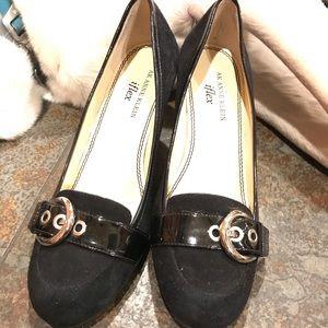 Black suede business shoes